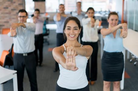 Hand Stretch Business Attire